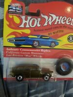 Hot Wheels 25th Anniversary '55 Chevy 1955 Chevrolet Nomad Olive 1/64 Scale