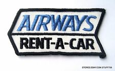 """AIRWAYS RENT A CAR EMBROIDERED SEW ON PATCH ADVERTISING UNIFORM 4"""" x 1 7/8"""""""