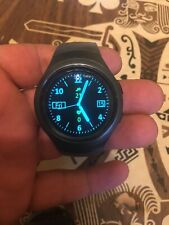 Samsung Gear S2 SMR730V Black Smart Watch w/ Large Gray Band (Black/Gray)