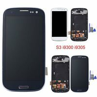 Full LCD Display Touch Screen Digitizer Frame For Samsung Galaxy S3 i9300 i9305