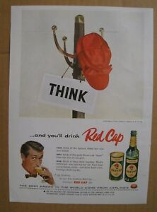 """1956Red Cap Light Ale / Priestley's Imported """"Nor-East"""" AD"""