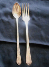 2-ANTIQUE 1936 MEADOWBROOK/HEATHER WM A ROGERS SILVERPLATE FORK & ICE TEA SPOON