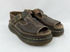 Doc Dr Martens Womens Sandals Vintage US Size 6 England Brown Leather Thick Sole