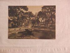 Vecchia foto cartolina d epoca di Salerno Villa Comunale giardini fontana da per