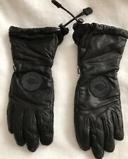 HARLEY DAVIDSON BLACK LEATHER LINED GLOVES LADIES -Waterproof -Size XS