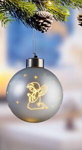 3 x LED WeihnachtsKugeln ChristbaumKugeln AdventsGesteck***ENGELCHEN**Geschenk
