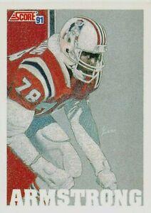 1991 Score Football Card #640 Bruce Armstrong MVP