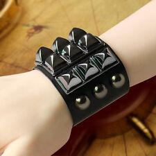 Vintage Punk Gothic Rock style fashion Bracelet Leather Wristband Cuff Bangle