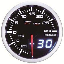 52mm Depo Racing Digital Turbo Boost Gauge 30 PSI White Smoked Lens WA5201LED