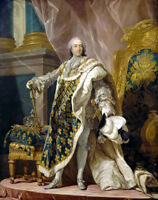 Louis XV King of France portrait oil painting Canvas Giclee Art Print L1912