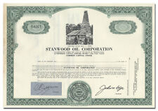 Stanwood Oil Corporation Stock Certificate (Drake Well Vignette)