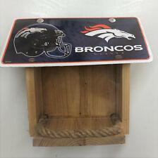 Denver Broncos License Plate Bird Feeder