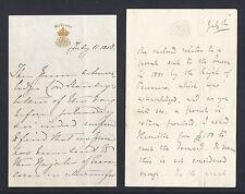 Queen Victoria Signed Letter 1858 Maharajah of Travancore India Royal Present