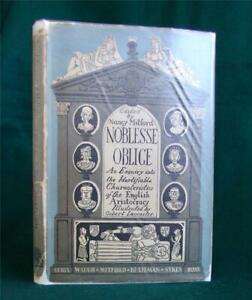 Nancy Mitford Noblesse Oblige, 1956 1st ed/2nd Impr. Evelyn Waugh, Betjeman etc