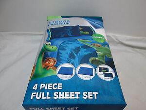 Disney Pixar THE GOOD DINOSAUR 4 piece Full Sheet Set ~ Blue/Green NEW