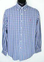 Polo Ralph Lauren Men's Size M Blue White Red Long Sleeve Button Down Shirt