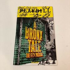 A Bronx Tale Opening Night Broadway Playbill Signed by Chazz Palminteri & Cast