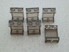 Lego 87552# 6x Paneele 1x2x2 transparent schwarz 4203 60051 3677