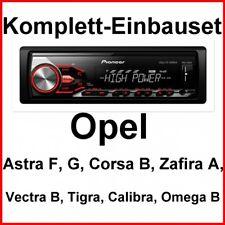 Pioneer MVH-280FD Autoradio FLAC Einbauset für Vectra B Tigra Omega Calibra