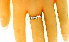 New 14k Solid Yellow Gold 0.25 Carat Diamond Ring Band Bezel Set 2Gr Size 6.5