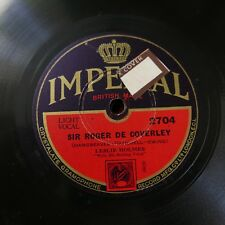78rpm LESLIE HOLMES sir roger de coverley / the soldier blew his bugle