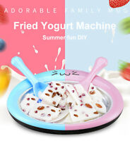 DIY Ice Cream Maker Ice Roll Pan Machine Instant Frozen Yogurt Homemade Plate