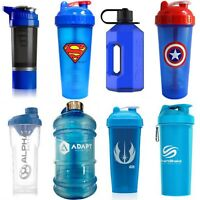 Blue Protein Shaker Cups and 2 Litre Water Bottle Jugs - Huge Range of Brands