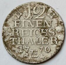 Prussia 12 Einen Thaler 1770 E, 1/12 Reichsthaler - Friedrich II, German States
