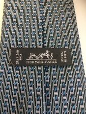 Hermès cravatta vintage in seta silk seda blu