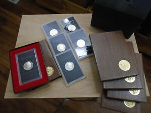 7 pieces Eisenhower 40% Silver Proof Silver Dollar