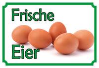 Frescas Huevos Letrero de Metal Placa Signo Arqueado Tin 20 X 30CM