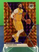 2019-20 Panini Mosaic Anthony Davis ORANGE Reactive Prizm Refractor Lakers #18
