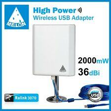 Melon Panel 36dbi 10m USB 36dbi antena Panel WIFI 2000mw USB 10m cable 2W MELON