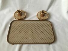 Vintage Tray And Candlesticks White And Gold Dressing Table Set