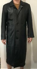 Nina & Nucci Genuine Leather Trench Coat/Jacket Great Condition Size S-L