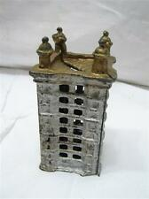 Cast Iron Office Building Dime Still Sky Scraper Bank Toy Penny Coin Tower D