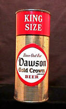 DAWSON GOLD CROWN BEER KING SIZE HALF QUART - MID 1950'S - 16OZ FLAT TOP CAN