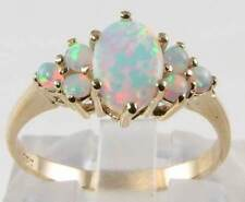 Opal Yellow Gold Ring Vintage Fine Jewellery