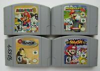 4 GameS Lot Nintendo 64 N64 Super Smash Bros, Mario Party 3, Mario Kart, Razor