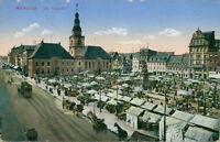 Ansichtskarte Mannheim Marktplatz Markt Straßenbahn 1916  (Nr.9190)