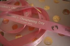 25mm Personalised Satin Ribbon Christmas Presents Children Babies & Gifts *