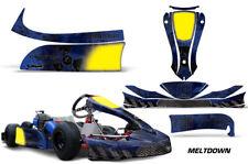 Go-Kart Graphics kit Decal for KG MK-14 Cadet Meltdown Black Blue