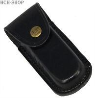 Fox Outdoor Messer Etui Leder schwarz Heft bis 11 cm Messeretui Gürtelschlaufe