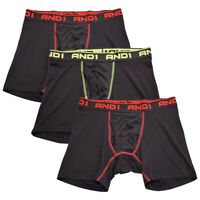 AND1 Men's 3 Pack Performance Boxer Briefs (S05)