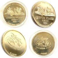 Walt Disney World Vacation Club Conch Flats 1991 Coin 3 Mountain Original Logo