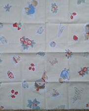 Childrens Vintage Foxwood tales 1996 B. Paterson abric Craft Panel Remnant FQ