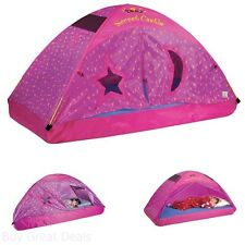 Castle Pink Twin Bed Tents For Kids Door Fits Twin Size Mattress New