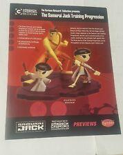 cartoon network collection statue promo sheet  -samurai jack
