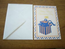 *NEW* For Your Baby Boy's Christening Day Baptism Boy Blue Gold Greeting Card