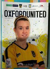 Oxford United Women v Aston Villa - WSL2 - League Programme - Played 19/04/2015